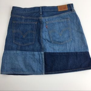 Levi's Skirts - LEVIS colorblock jean skirt 31